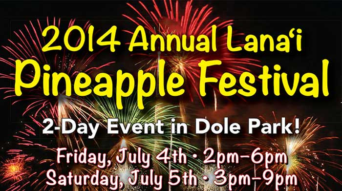 Graphic with words about Lanai Pineapple Festival.