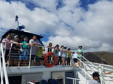 Lanai students on a place-based educational whale watching field trip