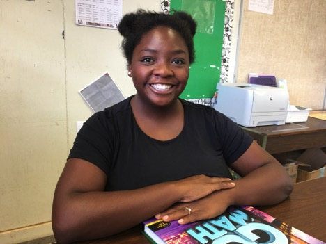 Lanai school teacher Cheyenne Farrell in her classroom