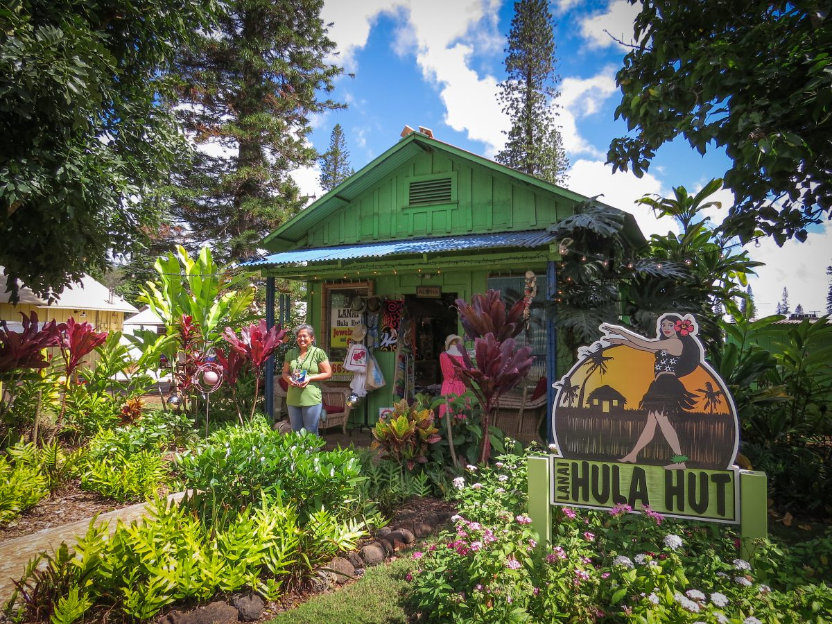 Photo of colorful exterior of Lanai Hula Hut.