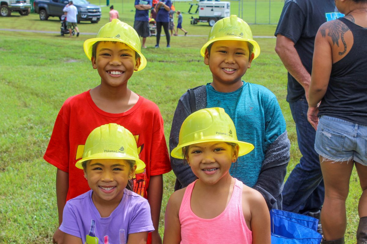 Photo of Lanai children at LHES outdoor event.