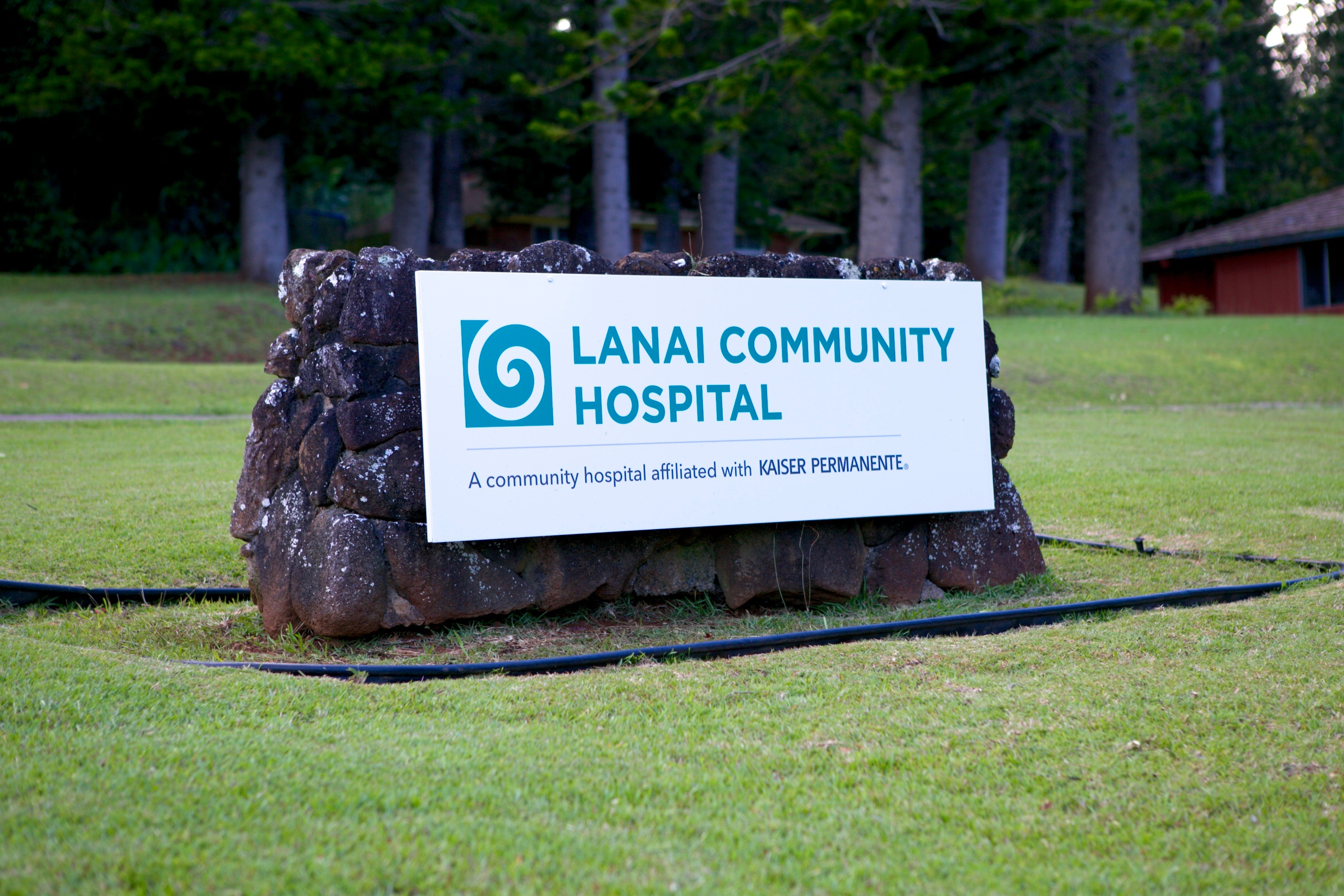 Exterior sign at Lanai Community Hospital