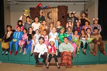 Photo of youth cast from Lanai production of Shrek musical.