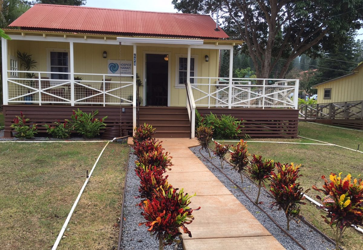 Exterior of front of Hospice Hawaii Hope House on Lanai.