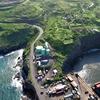 Aerial photo of Kaumalapau Harbor on Lanai.
