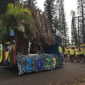 Freshman float in the Homecoming 2020 parade