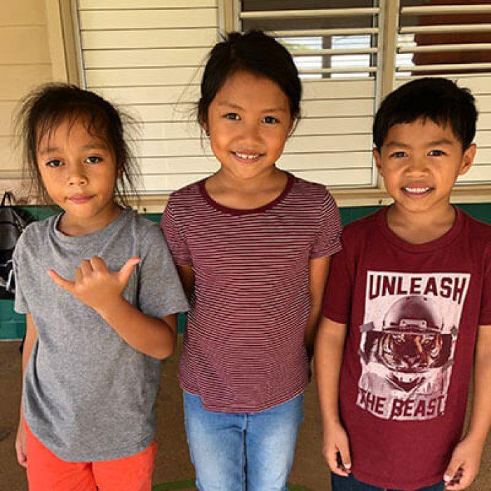 Vincent Ozoa, Avrian Waiolama, and Darian Waiolama