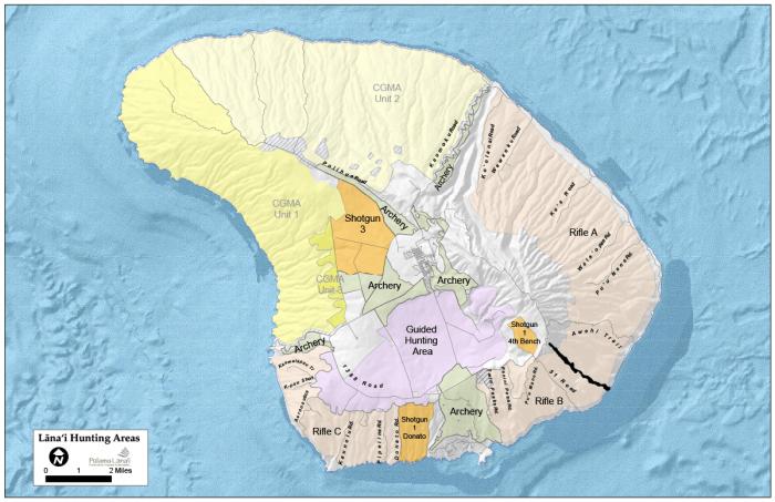 Lanai Hunting Map